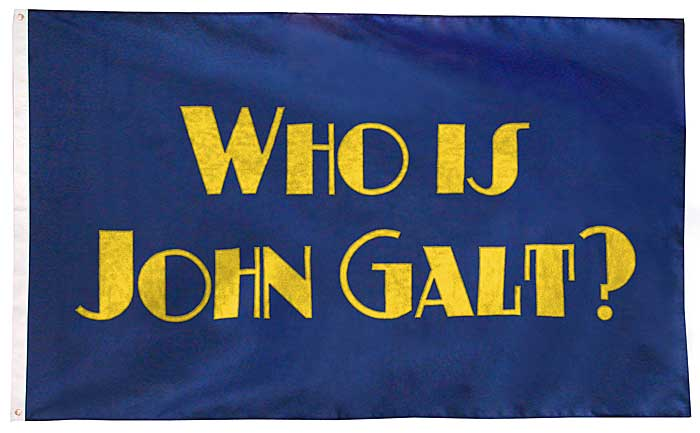 Who Is John Galt? Flag - New England Flag and Banner