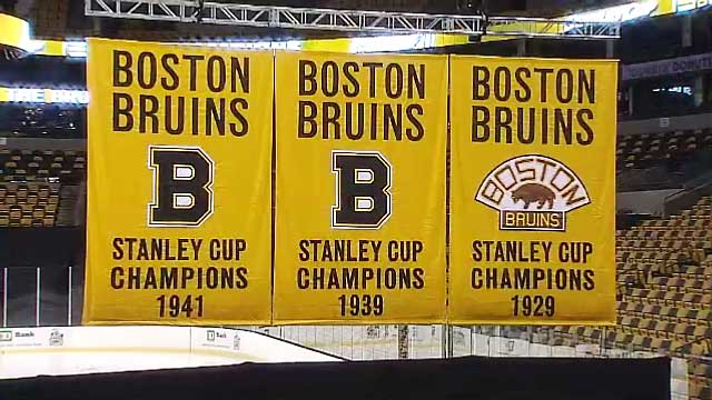 Unveiling of Revamped Boston Bruins Championship Banners
