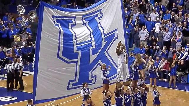 University of Kentucky Wildcats Holding the Flag High and Proudly