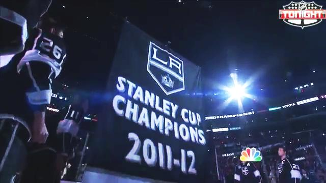 LA Kings 2012 Championship Banner Raising Ceremony
