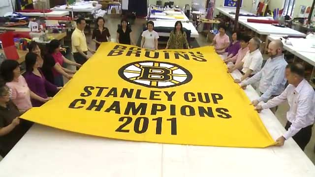 The Making of the 2011 Boston Bruins Championship Banner