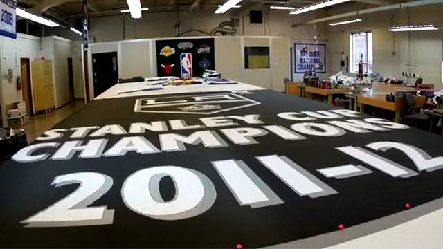 The Making of the 2012 LA Kings Stanley Cup Championship Banner