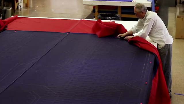 Making of the 2013 Boston Red Sox World Series Banner