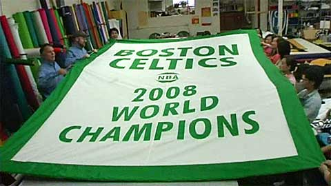 The Making of the Boston Celtics 2008 Championship Banner Video
