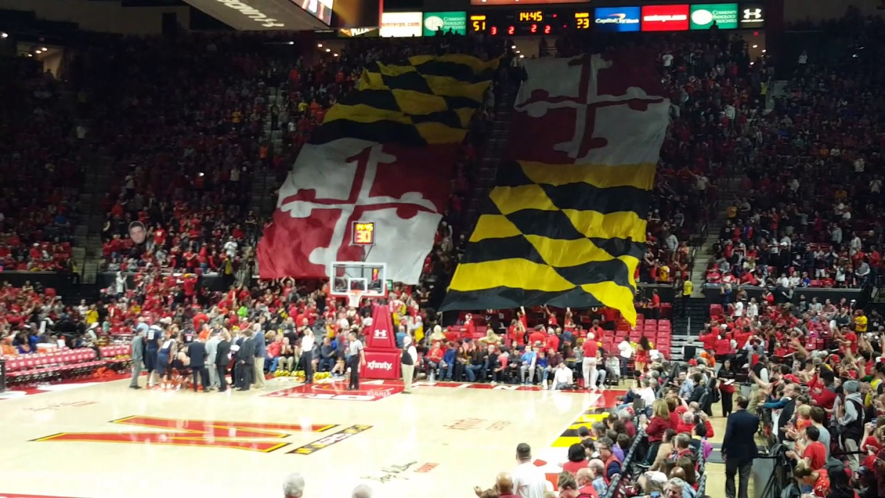 Maryland Basketball Flash Mob Giant Flags