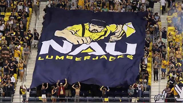 NAU Lumberjacks Pump Up the Crowd