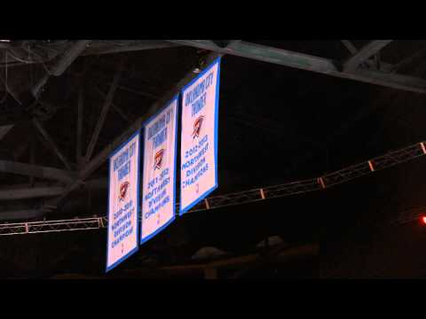 3rd Northwest Division Title Banner Drops in OKC